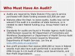who must have an audit