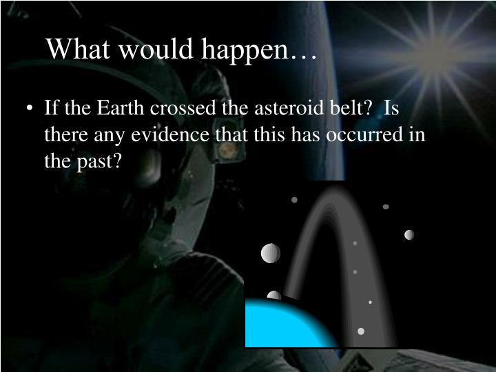 What would happen…