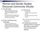 women and gender studies discourse community nicole