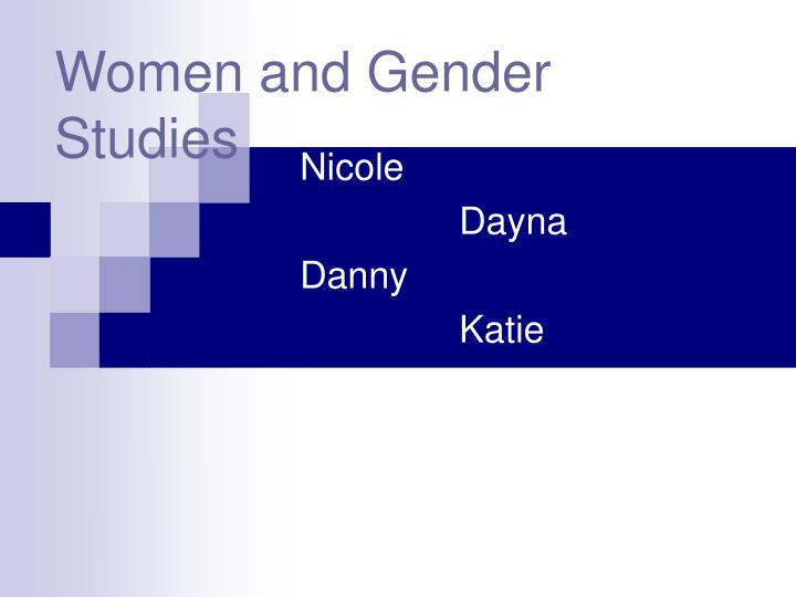 Women and gender studies