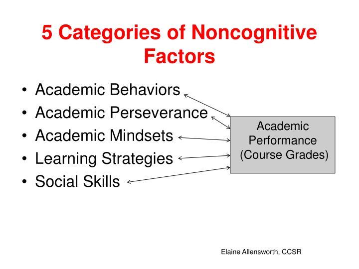 5 Categories of Noncognitive Factors