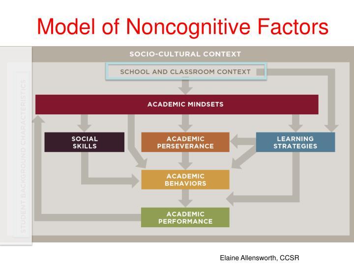Model of Noncognitive Factors