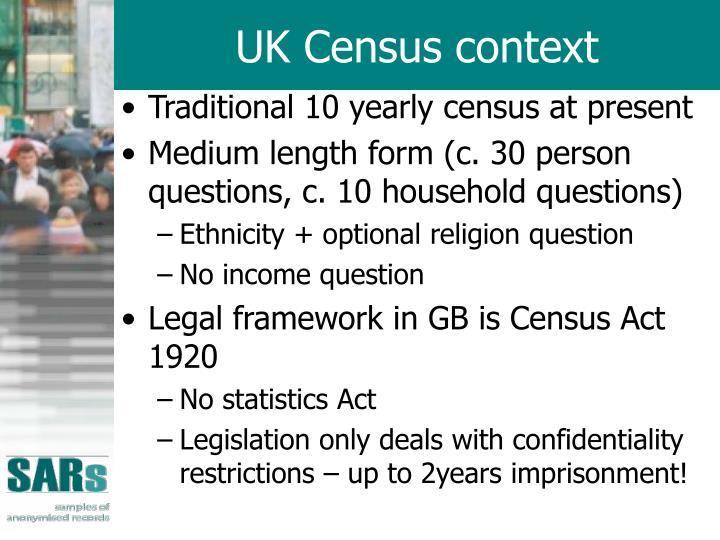 UK Census context