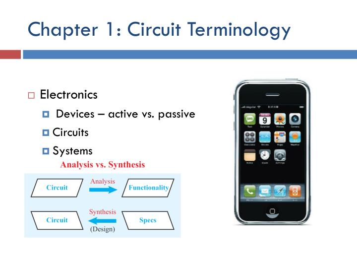 Chapter 1 circuit terminology