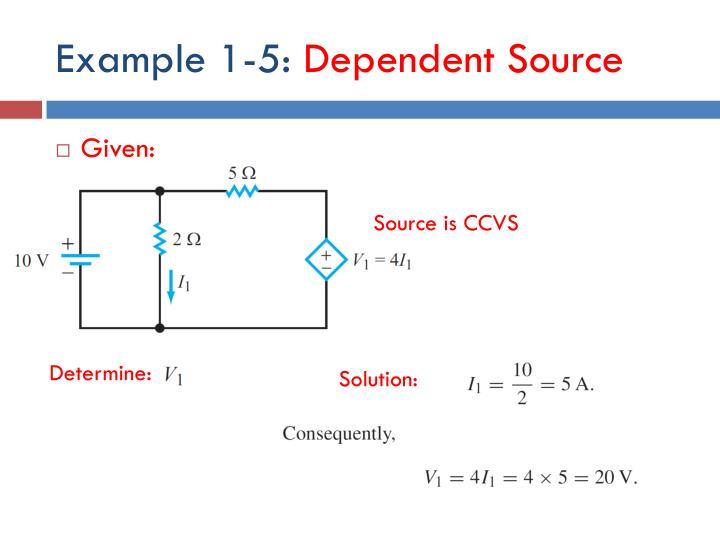 Example 1-5: