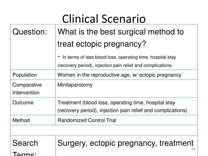 Clinical Scenario