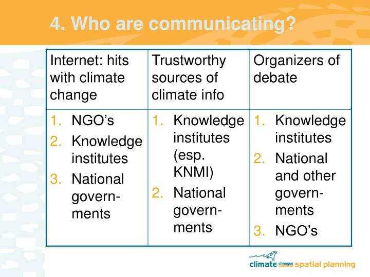 4. Who are communicating?