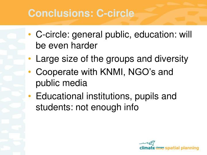 Conclusions: C-circle