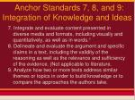 anchor standards 7 8 and 9 integration of knowledge and ideas