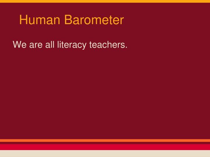 Human Barometer