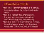 informational text is