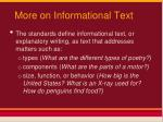more on informational text