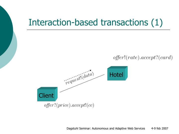 Interaction-based transactions (1)