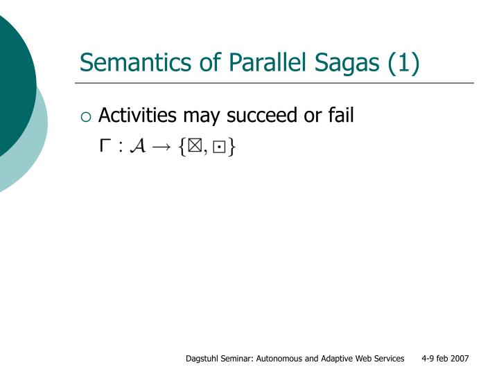 Semantics of Parallel Sagas (1)