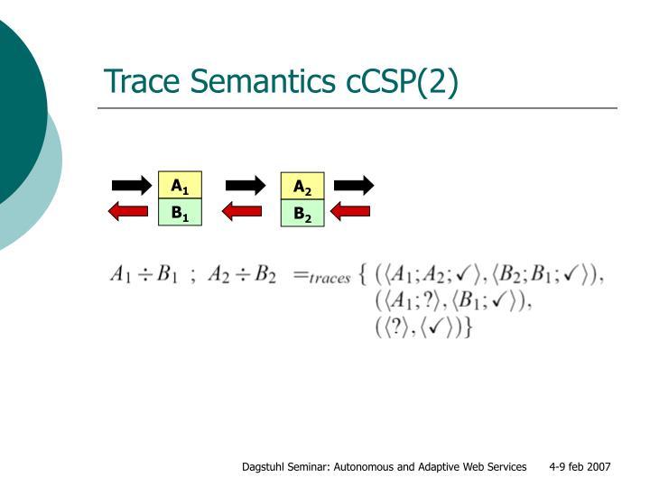 Trace Semantics cCSP(2)