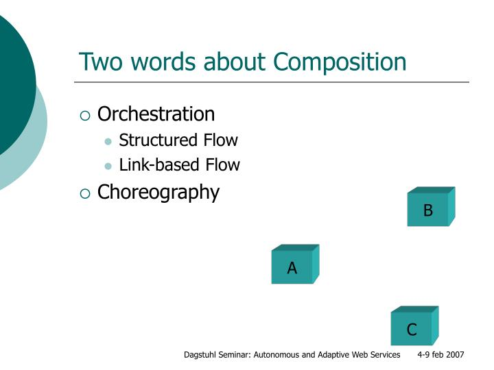 Two words about Composition