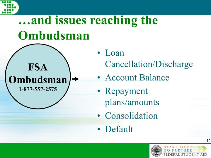 …and issues reaching the Ombudsman