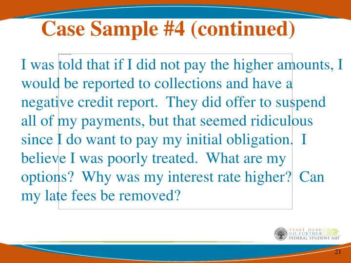 Case Sample #4 (continued)