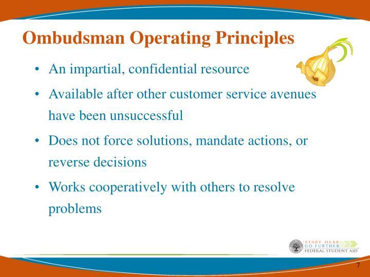 Ombudsman Operating Principles