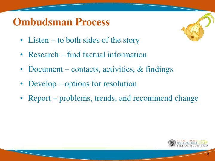 Ombudsman Process