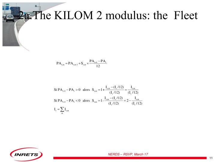 2a.The KILOM 2 modulus: the  Fleet