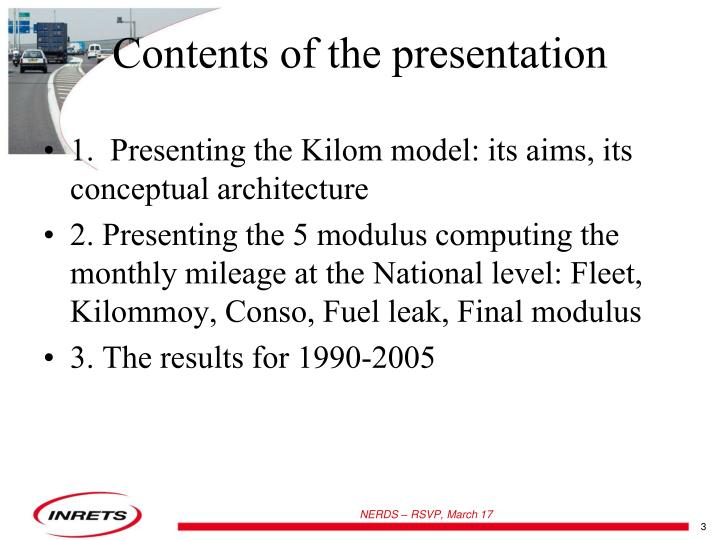 1.  Presenting the Kilom model: its aims, its conceptual architecture