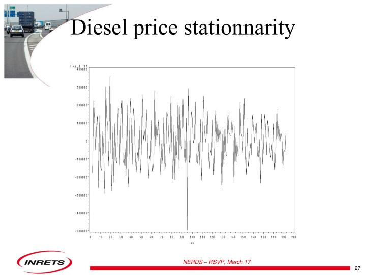 Diesel price stationnarity