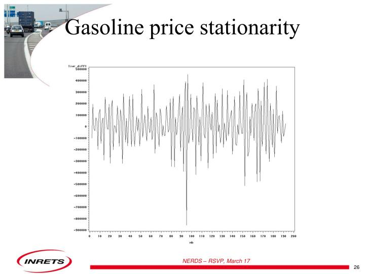 Gasoline price stationarity