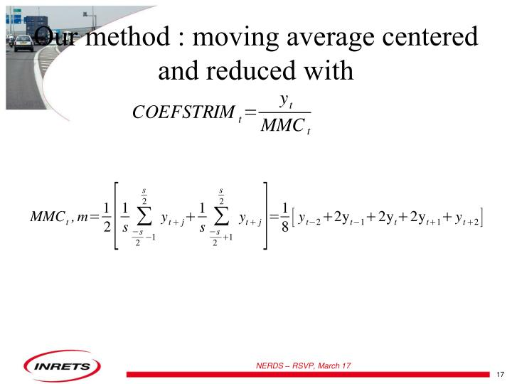 Our method : moving average centered and reduced with