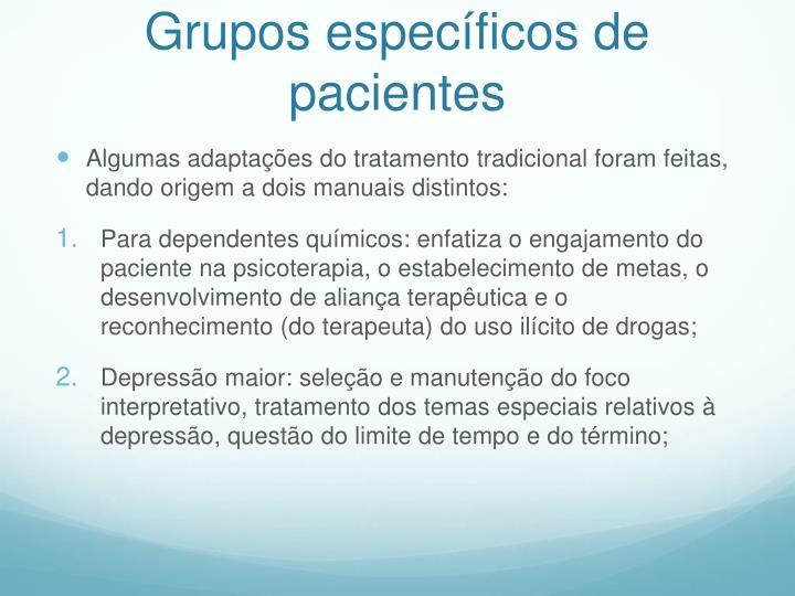 Grupos específicos de pacientes
