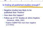 is finding all published studies enough