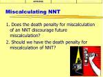 miscalculating nnt