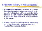 systematic review or meta analysis