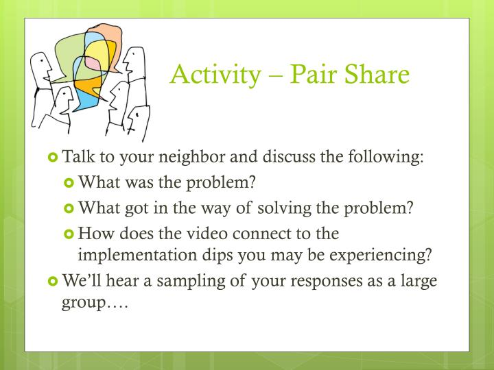Activity – Pair Share