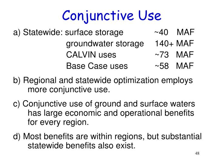Conjunctive Use