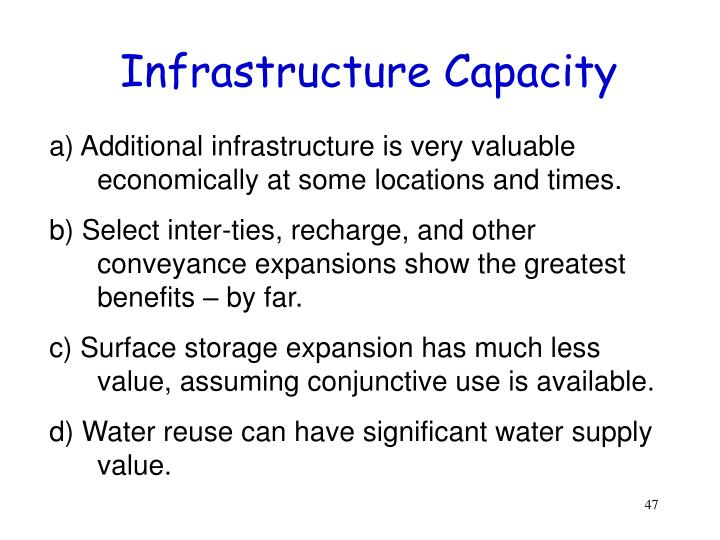 Infrastructure Capacity