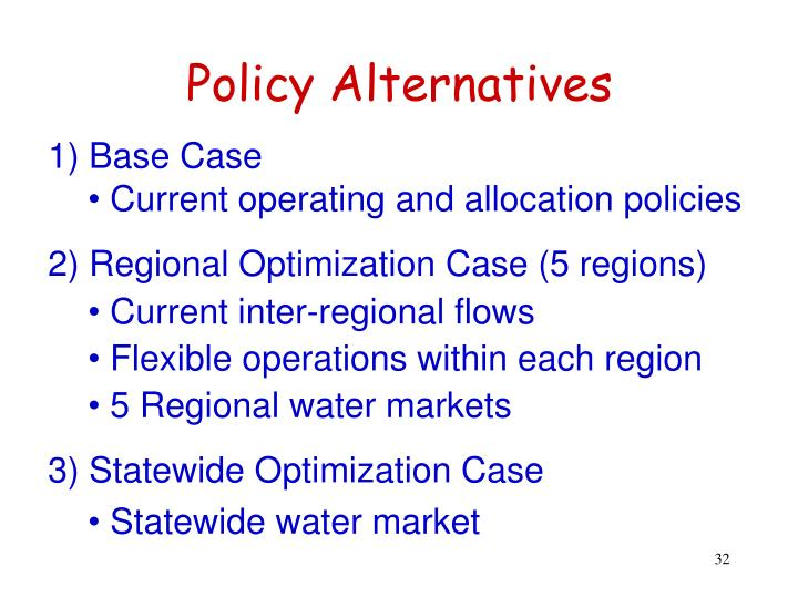 Policy Alternatives