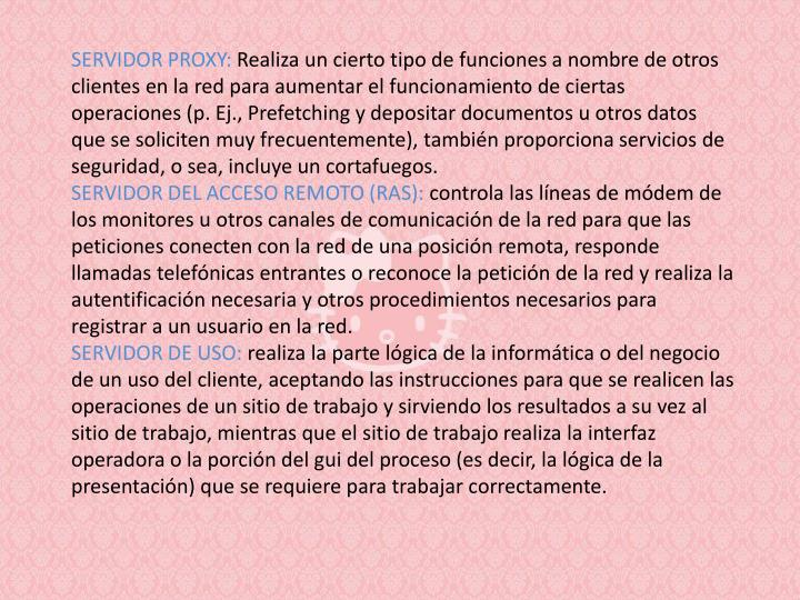 Servidor proxy: