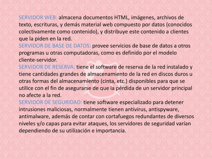 Servidor web: