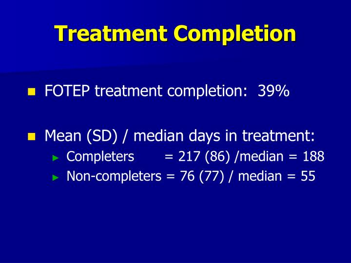 Treatment Completion