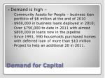 demand for capital