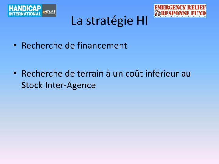 La stratégie HI