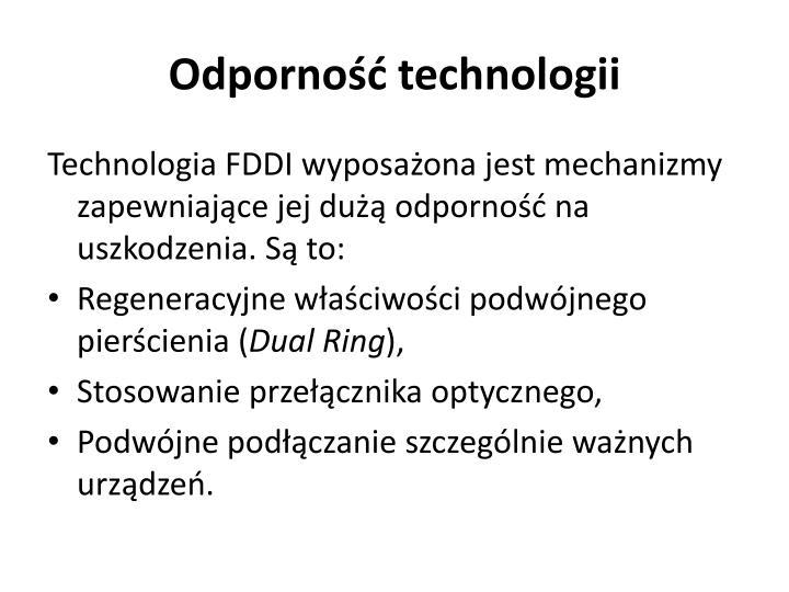 Odporność technologii