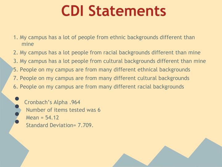 CDI Statements