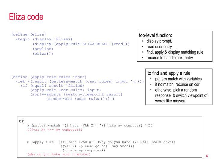 Eliza code