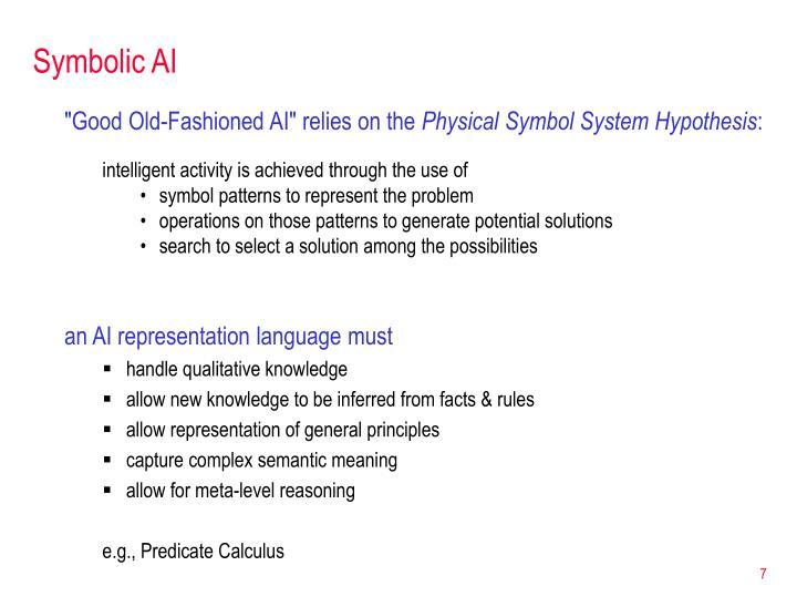 Symbolic AI