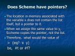 does scheme have pointers