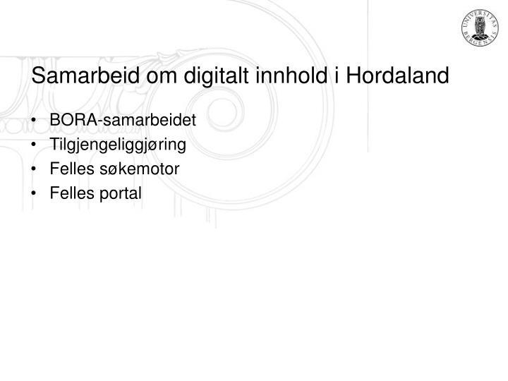 Samarbeid om digitalt innhold i Hordaland