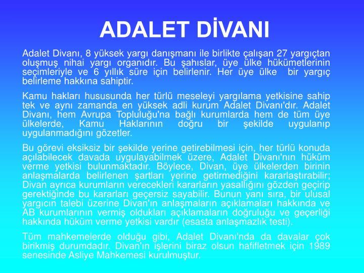 ADALET DVANI