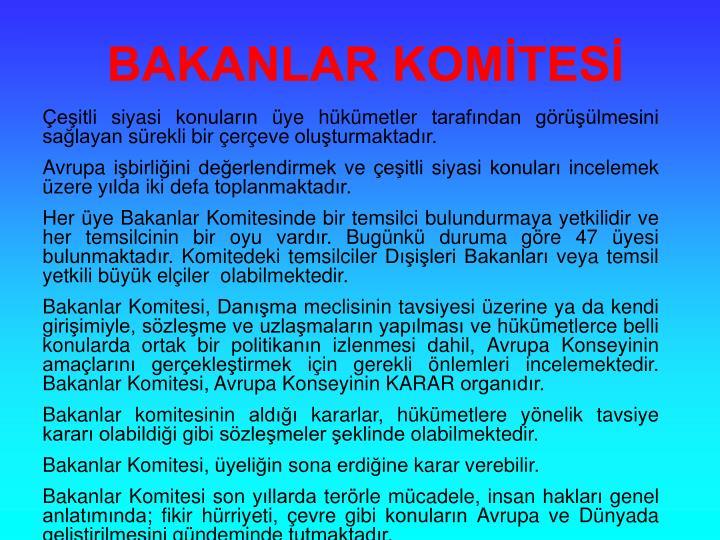 BAKANLAR KOMTES